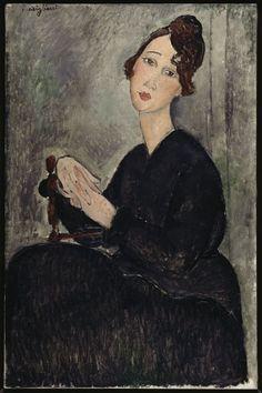 Amedeo Modigliani - Ritratto di Dédie (1918) I love his art