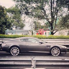 A wonderful sleek Aston Martin DB9