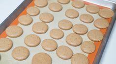 Coffee Macarons Recipe | Mom's Dish Macarons, Coffee Macaroons, Mocha Cookie Recipe, Coffee Mousse, Jello Shot Recipes, Jello Shots, Macaron Flavors, Cake Decorating Piping, Mousse Dessert
