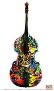 Custom Painted Double Bass