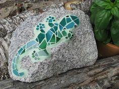 mosaik på sten
