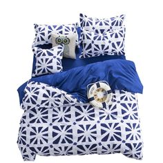 WINLIFE 3Pcs British Bed Set Lightweight Microfiber Duvet Cover Set with 2 Pillow Shams Boys Bedding Set Men's Bedding
