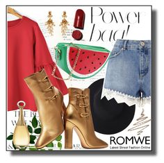 """Romwe III 2/10"" by dinna-mehic ❤ liked on Polyvore featuring Miss Selfridge, Gianvito Rossi, Oscar de la Renta, Christian Dior, Anastasia Beverly Hills and romwe"