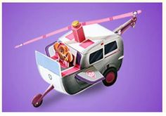 Fly high with Skye with this cool paper craft!