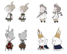 Character Concept Art - Final Fantasy: The 4 Heroes of Light Art Gallery Game Character Design, Character Design Inspiration, Character Concept, Character Art, Concept Art, Doodle Characters, Final Fantasy Characters, Japanese Drawings, Cartoon Sketches