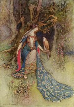 A few classic illustrations by Warwick Goble Artsy Craftsy - the art of myth and fairy tales. A nice source for classic children and fairy tale illustrations etc. Art And Illustration, Illustrations, Städel Museum, Warwick Goble, Art Magique, Fairytale Art, Oeuvre D'art, Vintage Art, Fantasy Art