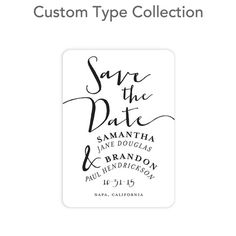 Endless Tomorrow - Signature Custom Save The Date Magnets - Petite Alma - Black : Front