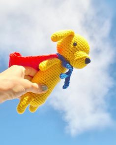 every.thing.shapes.us:: It's a bird!... It's a plane!... Nope it's Super Sausage  ...or Mr. Puppington in his free time  (thank you @trishlemoose for the name ) Pattern from my favorite @simplycrochetmag by super-talented @airali_gray  Thank you! I really liked to work with this pattern  #simplycrochet #simplycrochetapp #simplycrochetmag #airaligray #amigurumi #amigurumidog #amigurumidoll #crochet #crochetaddict #crocheting #crochetlove #weamiguru #craftastherapy #supersausagedog #амигуруми…