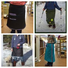 One Snow Skirt pattern ~ many different looks. #snowskirt cullercreations.com