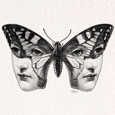 Cross Hatch Drawings with a bit of Anatomy Art Inspo, Illustration Papillon, Tattoo Drawings, Art Drawings, Tattoo Sketches, Arte Fashion, Arte Obscura, Psychedelic Art, Aesthetic Art