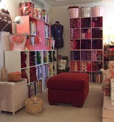 Amazing storage from Flickr user Sheepinthecity---my **dream** yarn storage solution! Love this SO much!!
