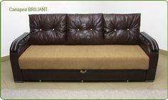 Canapele extensibile pe structura metalica si din lemn. Canapeaua este prevazuta cu lada pentru depozitare.
