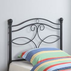 online shopping for Twin Metal Headboard Matte Black from top store. See new offer for Twin Metal Headboard Matte Black Bunk Beds With Storage, Metal Bunk Beds, Bed Storage, Bookcase Headboard, Bed Frame And Headboard, Black Headboard, Headboard Decor, Wrought Iron Headboard, Kids Bed Frames