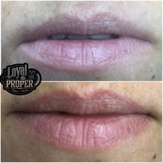 Natural result, one month after the lips tattoo , permanent makeup by Kouki