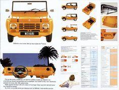 Citroen Mehari Broschüre französischer Oldtimer – Legend Lines – Join the world of pin Advertising History, Car Advertising, Automobile, 4x4, Beach Cars, Fiat Panda, Mini Camper, Jdm Cars, Car Manufacturers