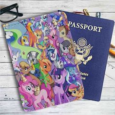 My Little Pony All Characters Leather Passport Wallet Case Cover