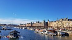 A view of the capital of Sweden from the bridge towards Nordiska Museet.