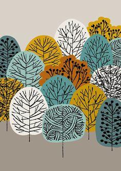 Treetops est une impression qui ajoute à ma gamme croissante dinspiration arbre images, avec une palette de couleurs qui reflète mes préférences actuelles et les inspirations saisonnières. Couleurs utilisées dans cette pièce incluent lOlivier dor, turquoise, bleu sarcelle et tan brun sur un fond gris chaud. Toutes mes images commencent la vie comme quelque chose main créé, soit peint, imprimé ou dessiné. Mes images sont ensuite arrangés numériquement et de couleur.    La taille du papier est…