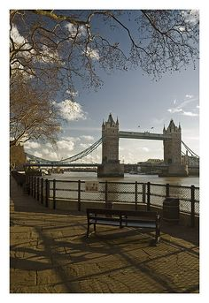 Sitting in front of Tower Bridge