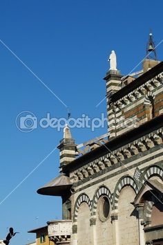 Detail of the Cathedral of Prato, Tuscany, Italy — Stock Photo