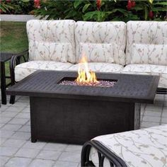 Montego Gas Fire Pit Coffee Table Black WoodlandDirectcom