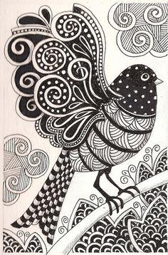 Zentangle Pattern Ideas   Zentangle Ideas & Patterns / Zentangle bird