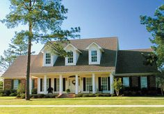 Southern style home with big porch.
