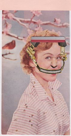 Headgear  Original Collage by kellygormanartwork on Etsy, $25.00