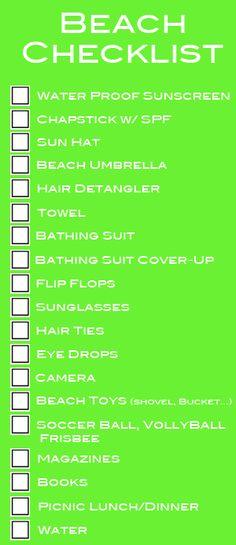 beach checklist add football and were set