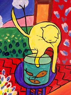 Henri Matisse The Cat with Red Fish, Masterpiece, Large Abstract Wall Metal Art Reproduction Photo Metal Print, Contemporary Art, Fine Art