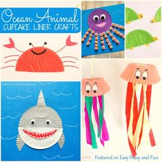 Cute-Ocean-Animals-Cupcake-Liner-Crafts.jpg (700×700)
