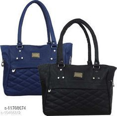 Checkout this latest Handbags Product Name: *Voguish Fashionable Women Handbags* Material: PU No. of Compartments: 2 Pattern: Self Design Type: Handbag Set Multipack: 2 Sizes:Free Size (Length Size: 12 in, Width Size: 2 in, Height Size: 10 in)  Country of Origin: India Easy Returns Available In Case Of Any Issue   Catalog Rating: ★4 (291)  Catalog Name: Gorgeous Attractive Women Handbags CatalogID_2214039 C73-SC1073 Code: 274-11708674-6141
