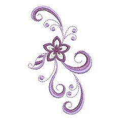 Jacobean,Swirl Border embroidery design