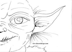 Yoda May the 4th traceable for star wars holiday Art Sherpa on youtube www.theartsherpa.com