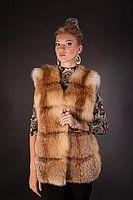 Spliced fox fur vest fur waist coat fur gilet fur sleeveless coat  Length=75 cm from shoulder   Sizes S, M  Price = $490/ €360  Delivery worldwide Меховый Жилет  жилетка безрукавка из меха рыжей лисы ярусами  Длина — 75 см (от плеча)