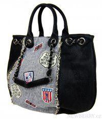 Kombinovaná kabelka do ruky / na rameno 694-BB černá