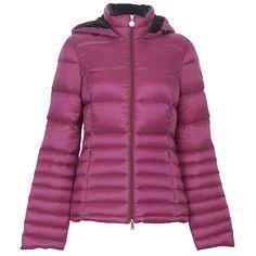 EA7 Emporio Armani Womens Pink Hooded Mountain Down Jacket main image
