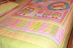 """Купить Одеяло детское """"Совята"""" розовое - рисунок, одеяло детское, одежда для девочек, одеяло лоскутное"""