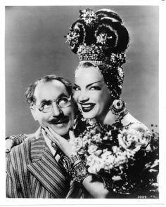 "driveintheaterofthemind: "" Copacabana (1947) Carmen Miranda And Groucho Marx """