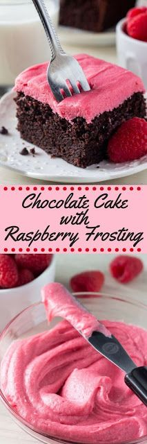 Chocolate Cake with Raspberry Frosting | Cake Cooking Recipes