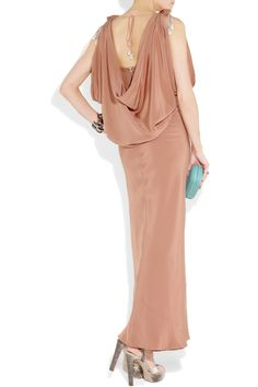 So elegant//Temperly London scarlett draped silk-crepe gown- this reminds of the 1920s flapper look. love it!