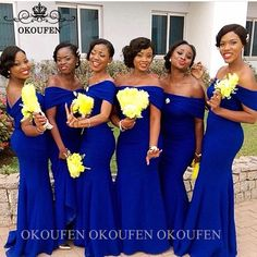 Cheap Bridesmaid Dresses, Buy Directly from China Suppliers:Royal Blue Bridesmaid Dresses For Women Black Girls Off Shoulder Long Wedding Guest Dress Party For Women Vestido Madrinha Enjoy ✓Free Shipp Formal Bridesmaids Gowns, Royal Blue Bridesmaid Dresses, Mermaid Bridesmaid Dresses, Wedding Bridesmaid Dresses, Mermaid Dresses, Wedding Party Dresses, Dress Party, Black Bridesmaids, Prom Dresses