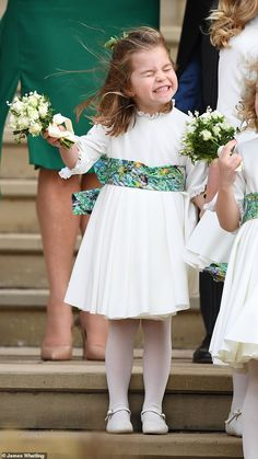 Princess Charlotte of Cambridge attends the wedding of Princess Eugenie of York and Jack Brooksbank at St George's Chapel on October 2018 in Windsor, England. Prince William Family, Prince William And Catherine, William Kate, Kate Middleton, Royal Princess, Prince And Princess, Eugenie Wedding, Harry Wedding, Star Wedding