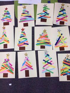 Christmas tree paper strips: