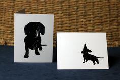 Dachshund Cards set of 5 blank 425x55 by photosbychele on Etsy, $16.95