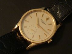 Rare Patek Philippe men's wristwatch no. 3796, 18K rose gold Calatrava