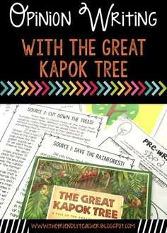 Opinion writing prompt on deforestation using a mentor text. Teach students text based evidence while going through the entire writing process! Writing Mentor Texts, Opinion Writing Prompts, Persuasive Writing, Writing Process, Teaching Writing, Teaching Ideas, Writing Ideas, Reading Activities, Reading Centers
