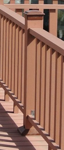 WPC garden design products. Wood Plastic Composite RAILING / HANDRAIL / BALUSTER IDEAS.