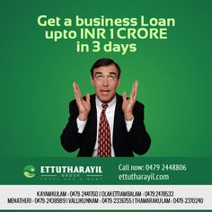 If you are looking for a fast business loan of high value, you have come to the right place. Multiple business loan applications can be managed and tracked from a single vendor; you won't have run around banks wasting your time in repeated follow-ups. For more details contact us today- Kayamkulam : 0479-2441760 | Olakettiambalam : 0479 2478533 | Menatheri : 0479-2438989 | Vallikunnam : 0479-2336755 | Thamarakulam : 0479-2370240  Visit: www.ettutharayil.com #Business #Ettutharayil #Kerala