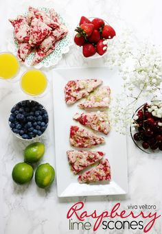 Raspberry Lime Scones recipe!  These couldn't be more perfect for a summer brunch or afternoon tea! (spon)